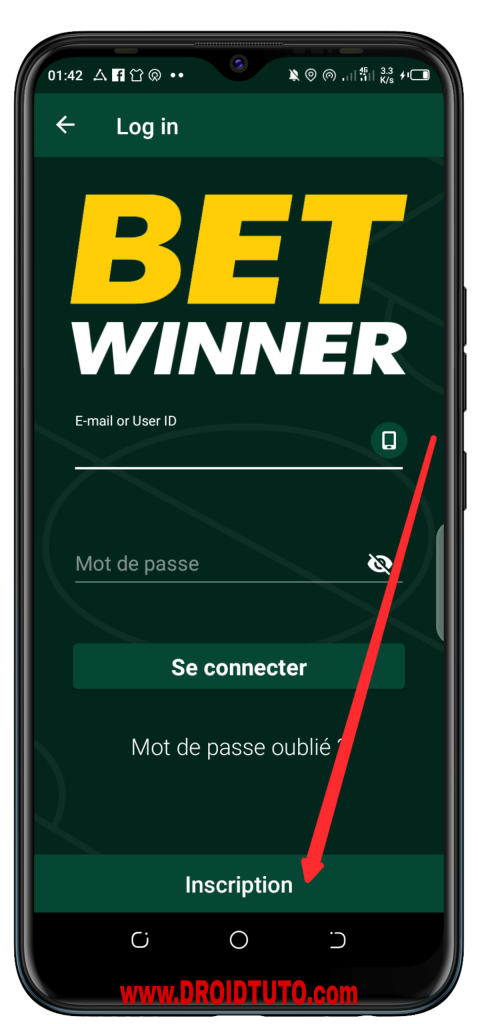Inscription betwinner
