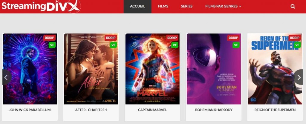 site de streaming film Streamingdivx