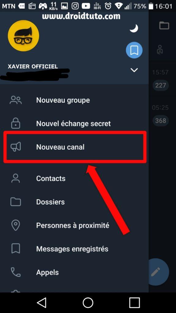 chaine telegram web messenger