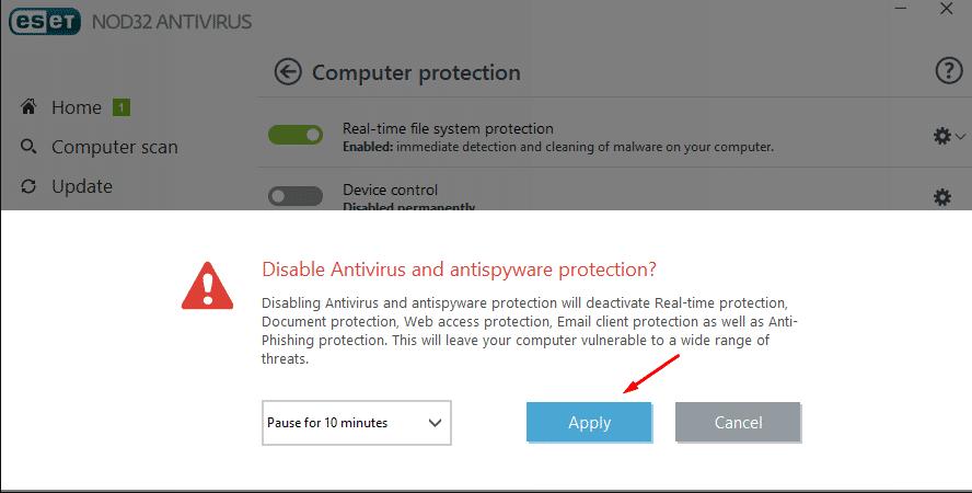 Desactiver son antivirus KMS activator