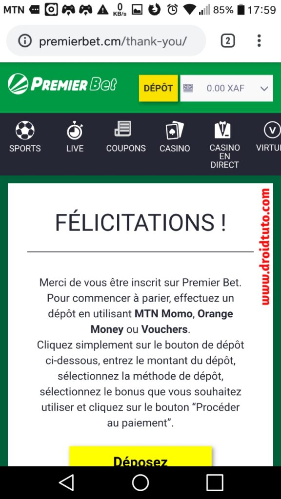 premier bet senegal